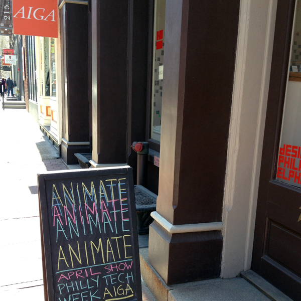 ANIMATE Exhibition @ AIGA Philadelphia - Jon Montenegro